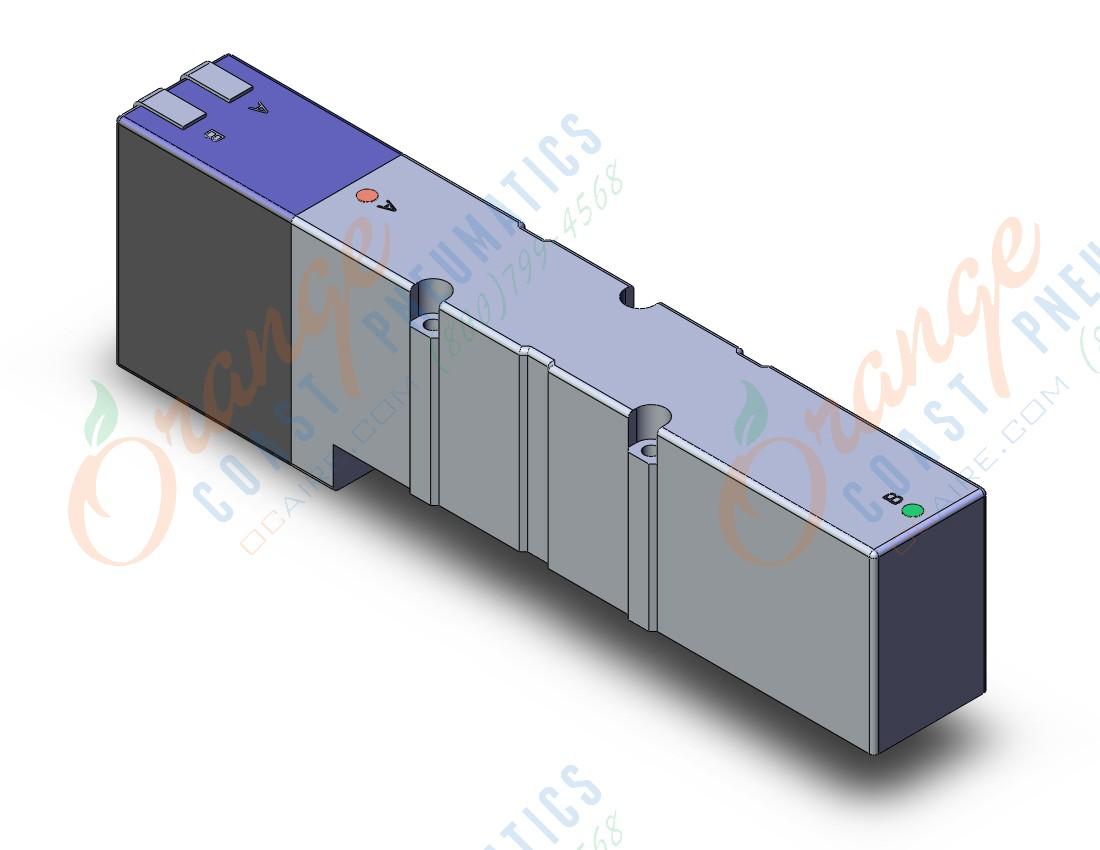 SMC VQC4501-51 valve, plug-in,, VQC4000 SOLENOID VALVE, 5-PORTiPneumatics - SMC Pneumatics